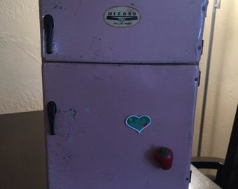 Childrens Wolverine tin refrigerator from the 1950's