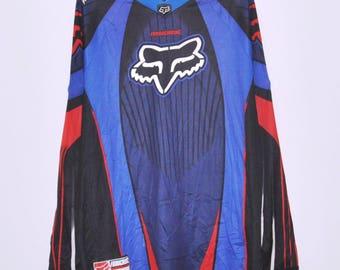 Vintage Fox Racing Team Long Sleeve T-Shirt Motocross Extreme Games Size Medium