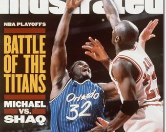 95 Jordan n O'Neal sports illustrated  magazine