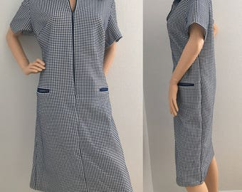 1960's Vintage Mod Shift Dress L/XL