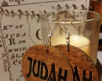 ON SALE! Reversible Judah wood earrings