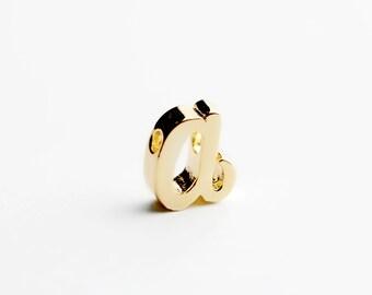 Gold Cursive Initial Charm A Regular Size - GRI-A