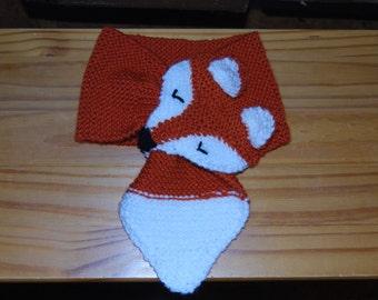 Children's Knitted Fox Scarf