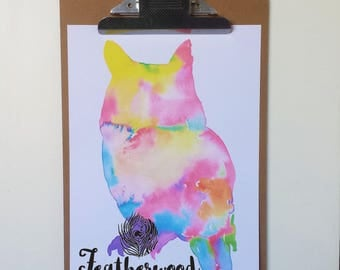 Rainbow Owl Art Print - Basic Brights Collection