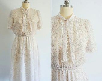1940s Garden Tea cotton dress
