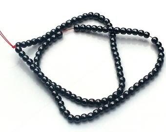 Dark grey non magnetic hematite beads - hematite beads - 4mm beads - round beads - gemstone beads