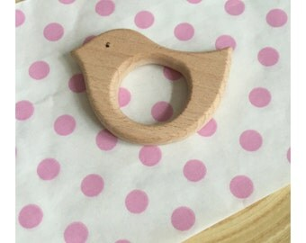 Wooden BIRD teething toy