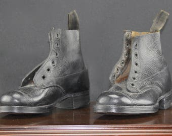 Edwardian Pair of Boy's Leather Boots