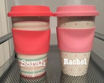 Customized Ceramic Travel Polka Dot Mug