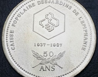 1937 - 1987 Caisse Populaire Desjardin de l'Epiphanie 50 Ans Years Trade Token - Great Gift Idea, Stocking Stuffer