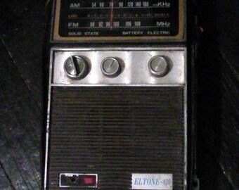 Vintage Eltone 400 AM/FM radio