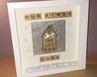 First home frame, personalised new home gift, first home frame, new home frame, first home gift, home gift, new home gift, housewarming gift