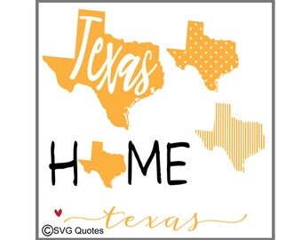 SVG Cutting file Texas State DXF EPS For Cricut Explore, Silhouette & More. Instant Download. Personal and Commercial Use. Vinyl Stickers
