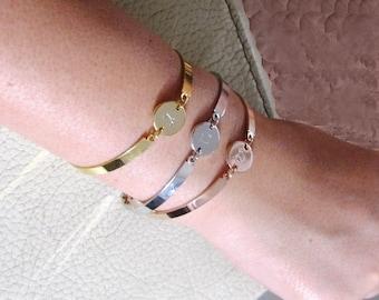 Hebrew jewelry, Jewish jewelry, Bangle jewelry, Gift for her, Bat mitzvah gift, Hanukkah gift, Charm bracelet, Personalized Jewish bracelet