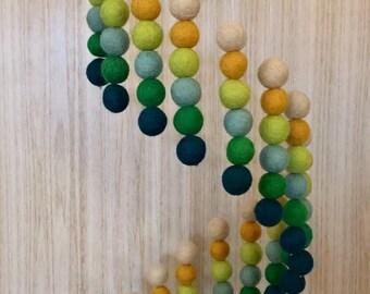 Cot Mobile -  Crib Mobile - Felt Ball Mobile - Baby Mobile - Felt Balls - Nursery Decor - Spiral Pattern