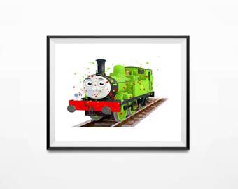 Disney Print, Thomas the Train, Percy Art, Thomas Art Print, Train Print, Thomas Print, Thomas Poster, Thomas and Friends, Thomas Gifts