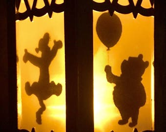 Disney Winnie The Pooh Inspired Battery-Operated Plastic Lanterns (Gold Mini)
