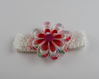 Flower headband, kids headband, crochet headband, spring headband