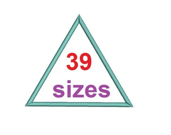 Equilateral triangle Applique EMBROIDERY Design Shape Appliques Embroidery Design Machine Frame Embroidery Instant Download ER1028E7
