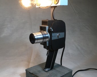 Vintage 8mm Movie Camera Lamp