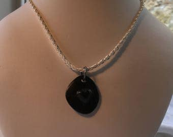 Raised Heart Necklace - gift for her