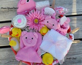 Pink Diaper Tub, Free Shipping