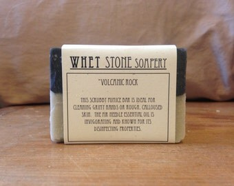 Volcanic Rock scrubby tallow soap