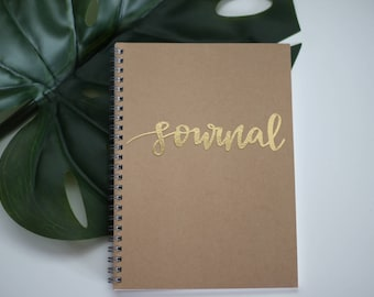 """Gold-Embossed Notebook (A5) - """"Journal"""""""