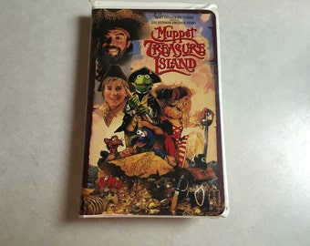 VHS Movie, Muppet Treasure Island Movie, Jim Henson, 1996, Inv0626,
