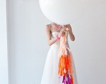 JUMBO White Balloon, 36 inches, weddings, party