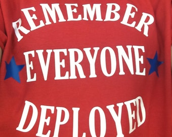 R.E.D. Remember Everyone Deployed military t-shirt
