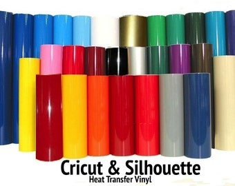 "Heat Transfer Vinyl 15"" x 5 Yards - MIX AND MATCH with over 30 color choices. Perfect for Silhouette Cameo, Cricut - Free Shipping!"
