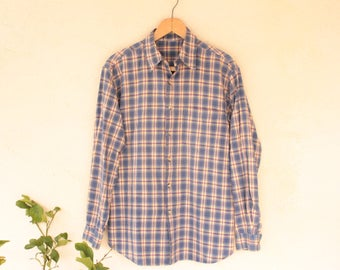 Vintage Long Sleeved Checked Shirt - Size Small