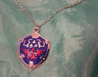 Hylia shield chain with pendant legend often Zelda
