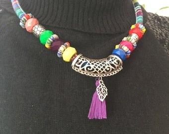 Sale  Bohemian beaded necklace , tassel bohem necklace , bohemian necklace , bohem necklace , gipsy necklace ,