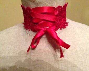 Steampunk lace corset choker