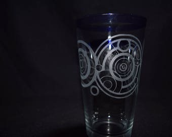 Doctor Who Inspired Gallifreyan Etched Glasses