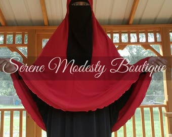 French Hip Length Inspired Long Hijab