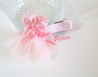 Baby Girl Pink Lace Dress Hair Clip