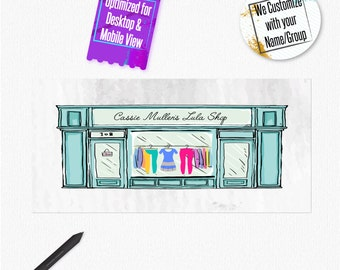 Facebook Event or Cover photo- Custom Store front