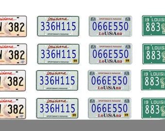 scale model car Louisiana license tag plates