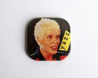 "Yazz Vintage 1.25"" Square Pin Back Button Badge"