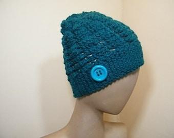 Ladies knit hat/ crochet