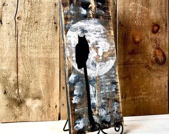 RUSTIC OWL ART,Rustic Wall Art,Rustic Home Decor,Distressed Wood,Painting on Wood,Rustic Owl Decor, Animal Art,Original Owl Painting,Owl Art
