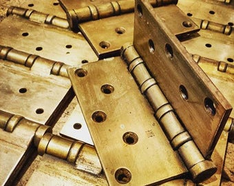 Canadian Historical Memorabilia: Vintage 1940's Brass Hinges Savlaged from Canadian Parliament in Ottawa, Ontario, Canada