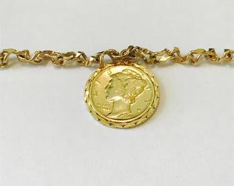 1941 US Dime Coin Bracelet