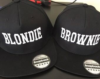 Blondie & Brownie Cap-Embroidered