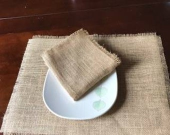 Burlap napkins, set of four