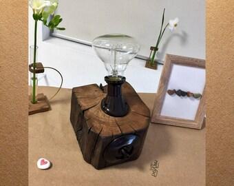 Rustic lighting, Modern industrial lighting, Rustic industrial lamp, reclaimed wood mid century lamp, Mid century retro style lamp, Vintage