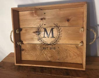 Custom Monogram Serving Tray